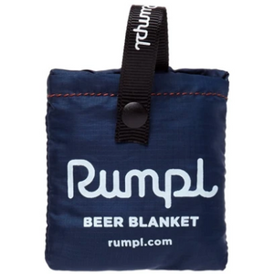 Deepwater beer blanket shown in its small packable form.