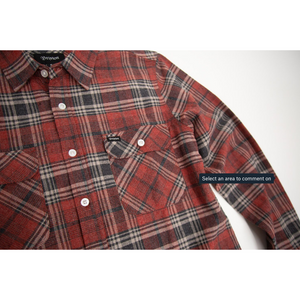 Close up product image of the Bowery flannel.