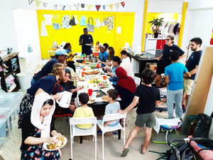 LUNCH PARTY FOR THE SEWING COOPERATIVE