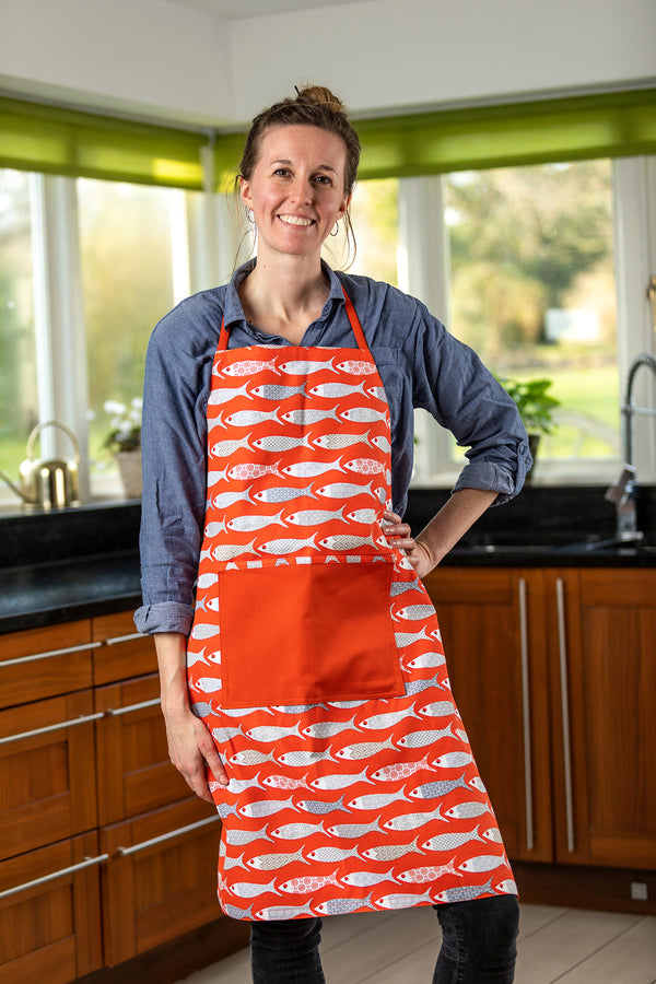 Ba Red Fish Adult Apron