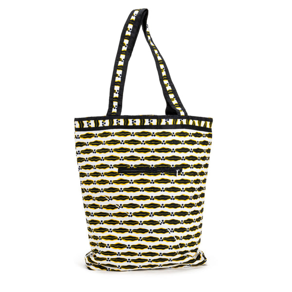 Constance Black and Yellow African Premium Bag