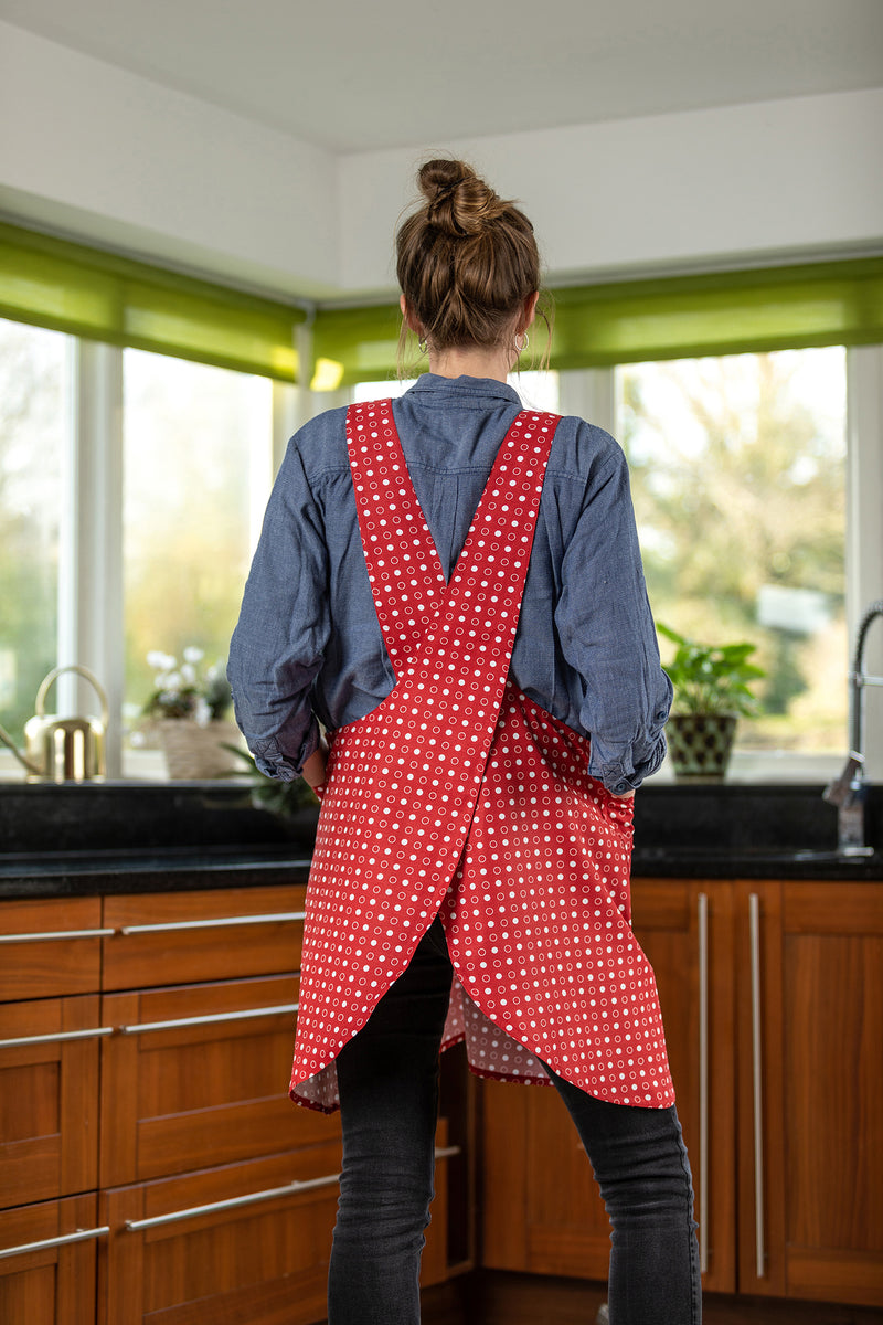 Jasmine Red Spotted Japanese Adult Apron