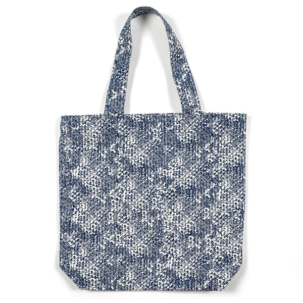 Julie Abstract Blue Shopping Tote Bag