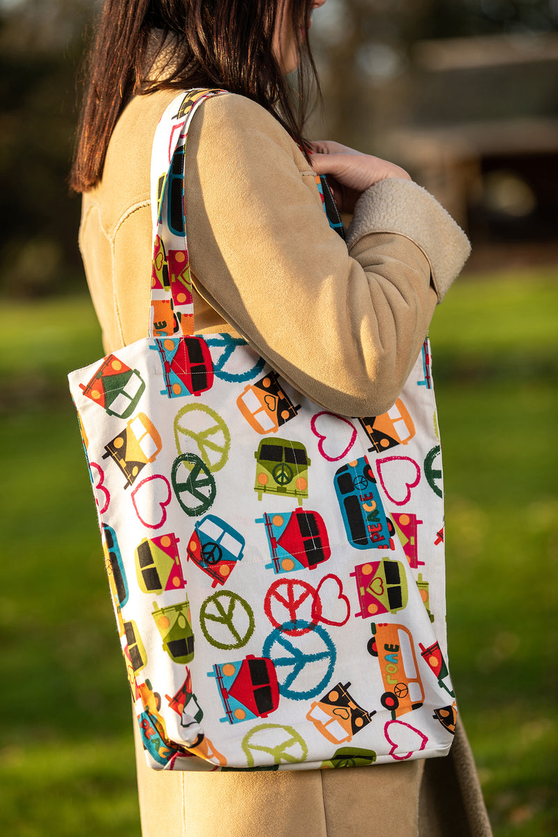 Julie Peace and Love Shopping Tote Bag