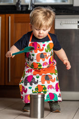 Lauraine Love Elephants Kids Apron