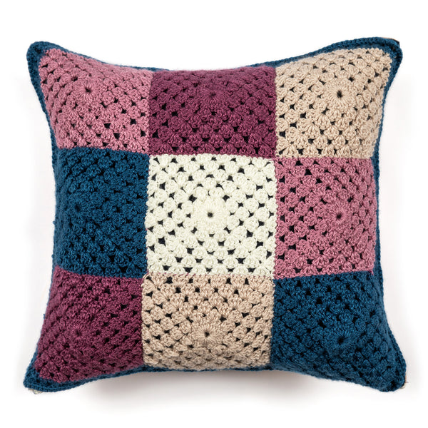Sara Coloured Square Crochet Cushion Cover