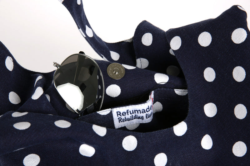 Bernadette Dark Blue Spotted Premium Bag