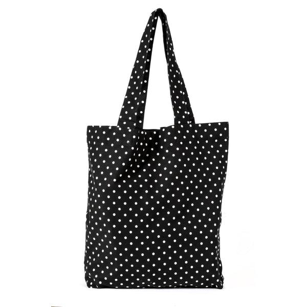 Julie Dotty Black Spotty Shopping Bag