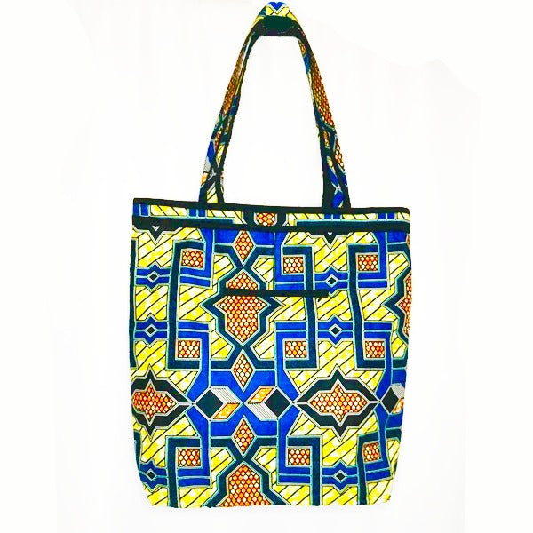 Constance Bold African Geo Print Premium Bag