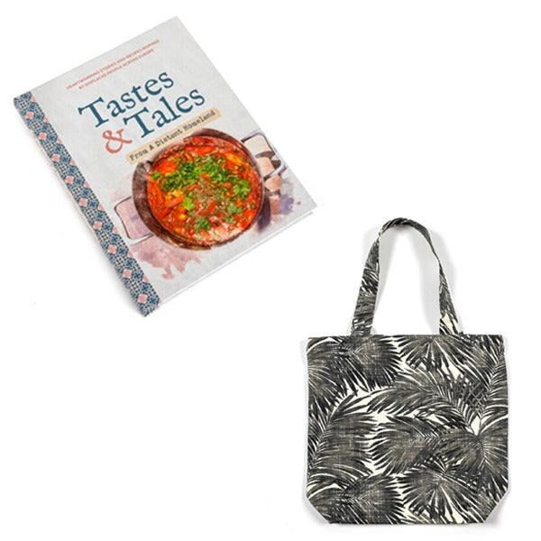 CHRISTMAS SPECIAL - Taste & Tales Cookbook and Abstract Shopping Bag £27