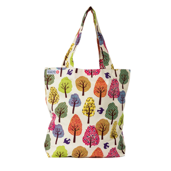 Julie Cute Coloured Trees Shopping Bag