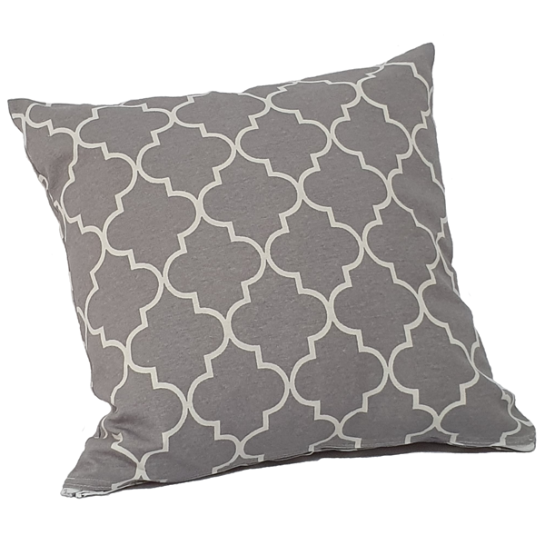 SQUARE CUSHION COVER GREY PATTERN
