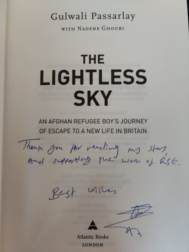 The Lightless Sky - By Gulwali Passarlay Signed by Author (Hard Back)