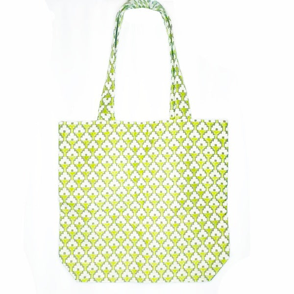 Julie Pea Green Tile Shopping Bag plus Matching Makeup Purse £18