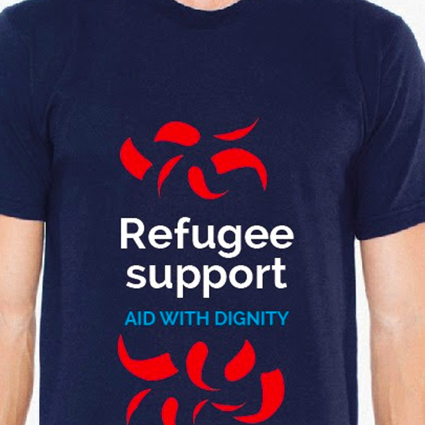 Refugee Support Navy Blue Charity T-Shirt
