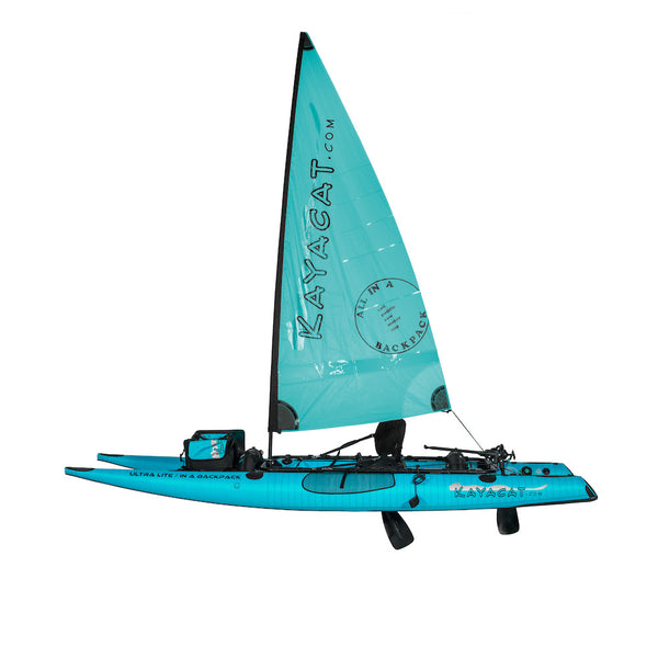 KAYACAT COUGAR in blue with sail
