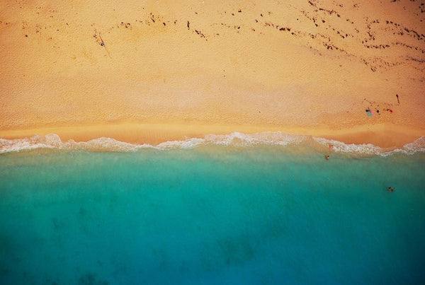 Birds-eye view of a beach