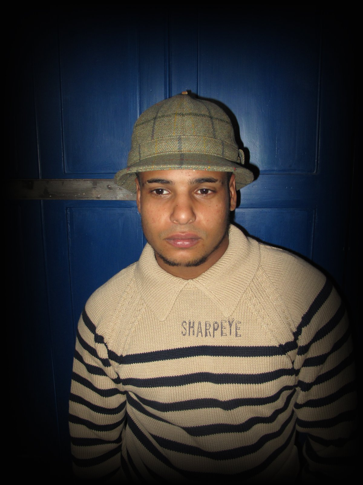 Trapper Hat - Tweed Check - reduced from £90
