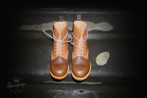 Sharpeye Two Tone Naval Boots - Chocolate/Tan (Only 1 Per Size)