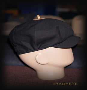 Wayfarer Cap - Black Canvas - reduced from £70