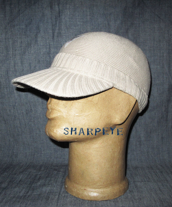 Knitted B-Ball Cap Stone