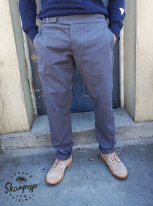 Utility Pants - Gun Metal Blue Japanese Canvas (1-in-Ten) Engineered