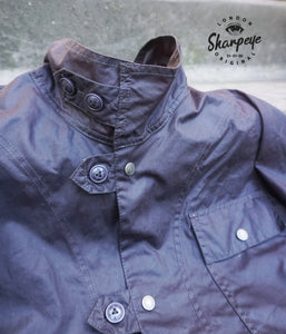 Field Mac - Waxed Waterproof Cotton - Slate (1-in-Ten) - reduced from £195