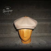 Load image into Gallery viewer, 3 Point Stoker Cap - Chalk (1-in-Ten) 1930s Styling