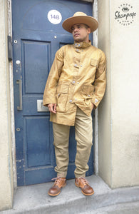 Field Mac - Waxed Waterproof Cotton - Tan (1-in-Ten) - reduced from £195