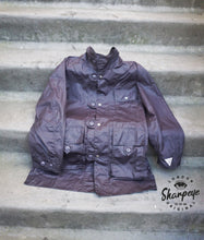 Load image into Gallery viewer, Field Mac - Waxed Waterproof Cotton - Slate (1-in-Ten) - reduced from £195