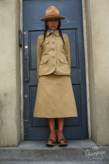 Ladies Utility Jacket - Tan Japanese Gaberdine - (1-in-Ten)