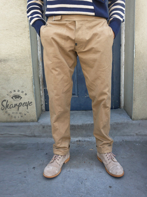 Utility Pants - Tan Japanese Canvas (1-in-Ten) Engineered