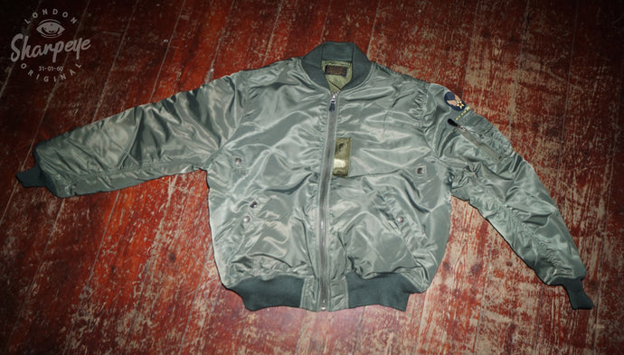 Original USAF MA1 Jacket - Sage - (1-in-Ten) - reduced from £190