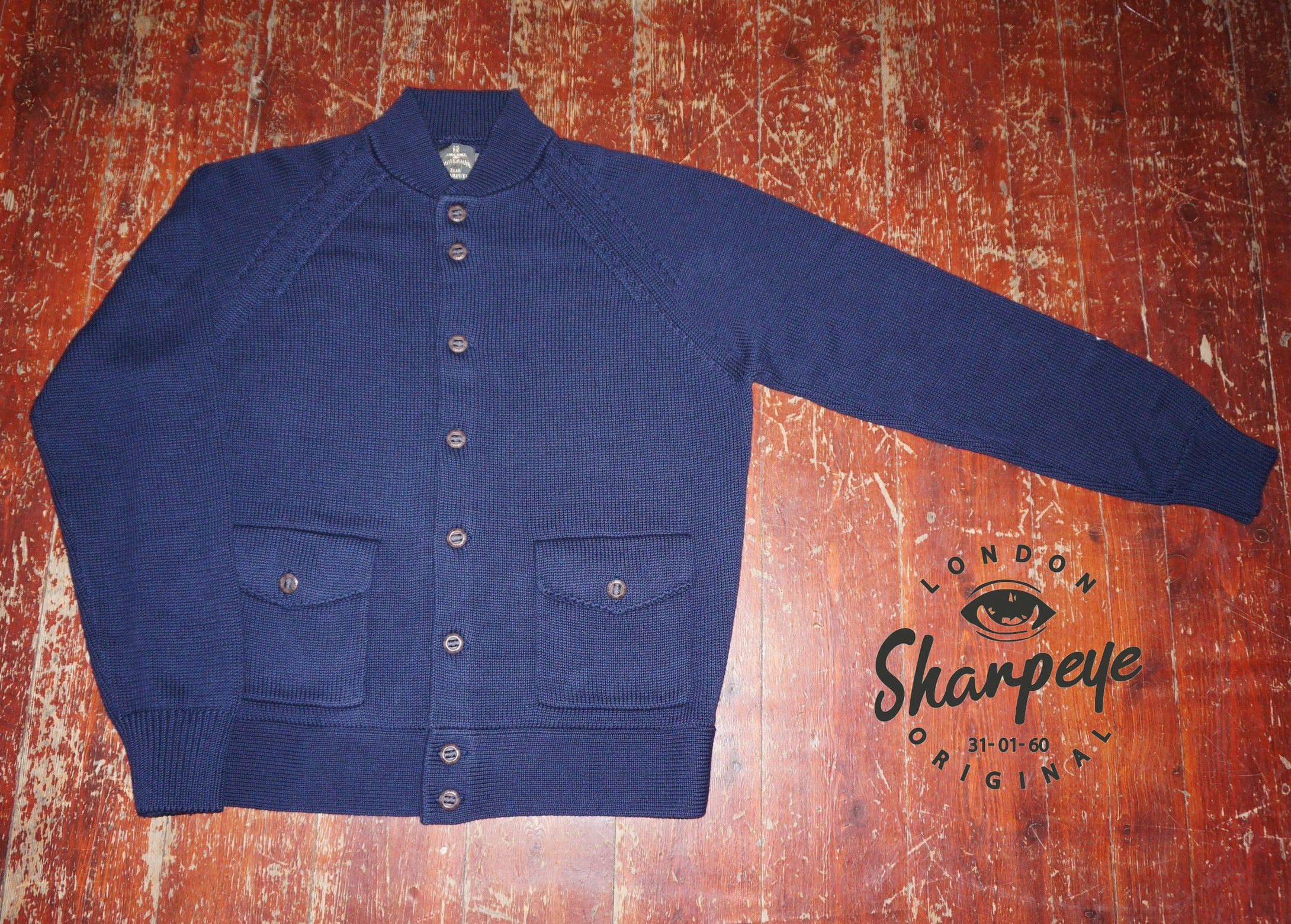 Knitted Reef Jacket - Navy - reduced from £160