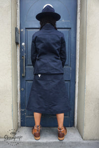 Ladies Utility Jacket - Navy Japanese Gaberdine - (1-in-Ten)