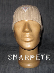 Ribbed Knitted Ski Hat Stone