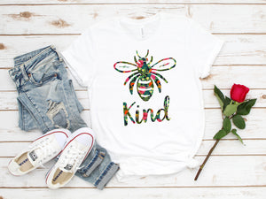 Inspirational Bee Kind Message T-Shirt (Unisex)