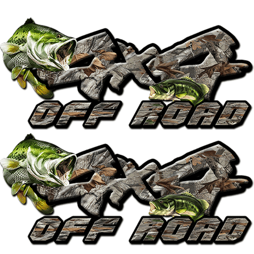 4x4 Bass/Camo Decal