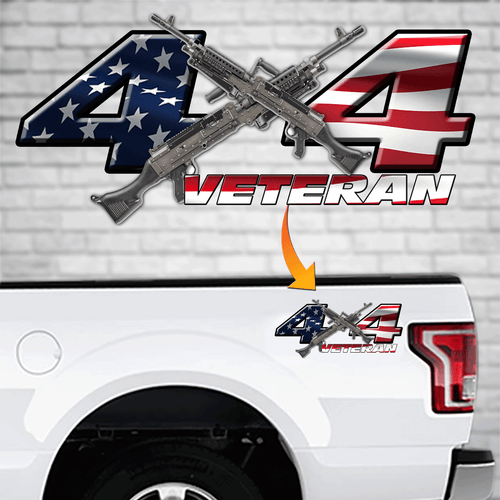 4x4 Veteran Decal