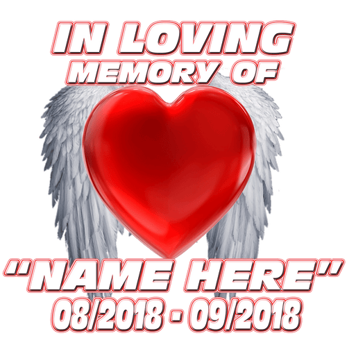 In Loving Memory Heart Wings