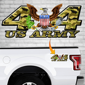 4x4 Army Decal Eagle