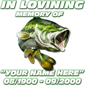 In Loving Memory Fishing Decal