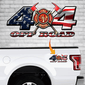 4x4 Firefighter Truck Decal #2