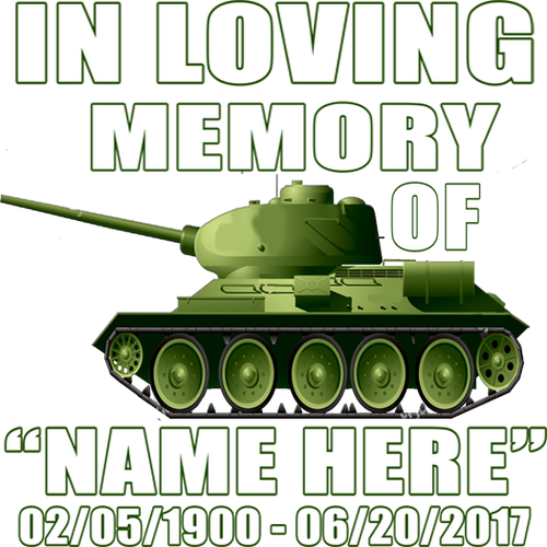 In Loving Memory Army Decal