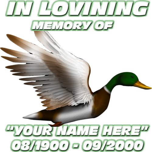 In Loving Memory Duck Decal