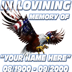 In Loving Memory Patriot Eagle Decal