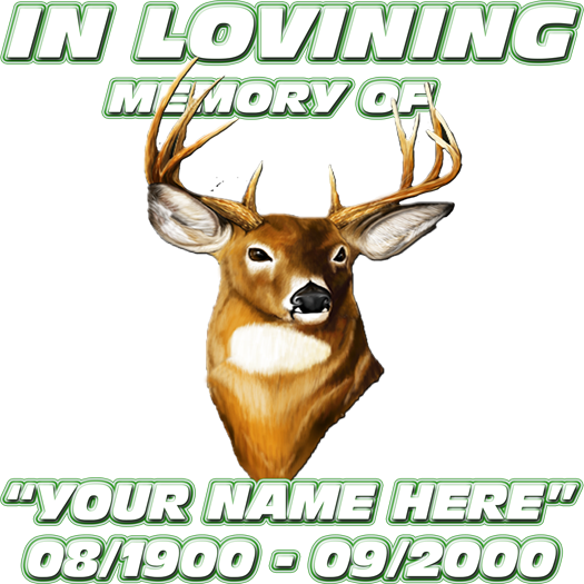 In Memory Of-Deer Decal