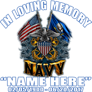 In Loving Memory Navy Decal