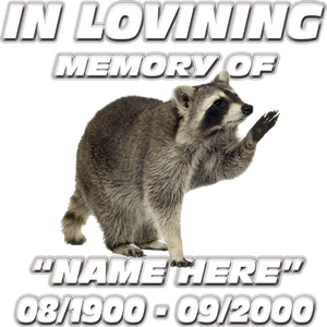 In Loving Memory-racoon Decal