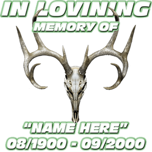 In Loving Memory  Deer Skull Decal